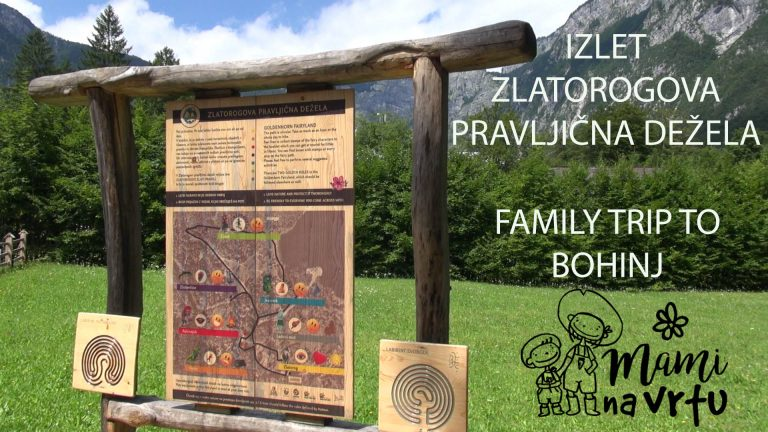 Zlatorogova pravljična dežela v Bohinju I Bohinj lake and Goldhorn fairyland with family