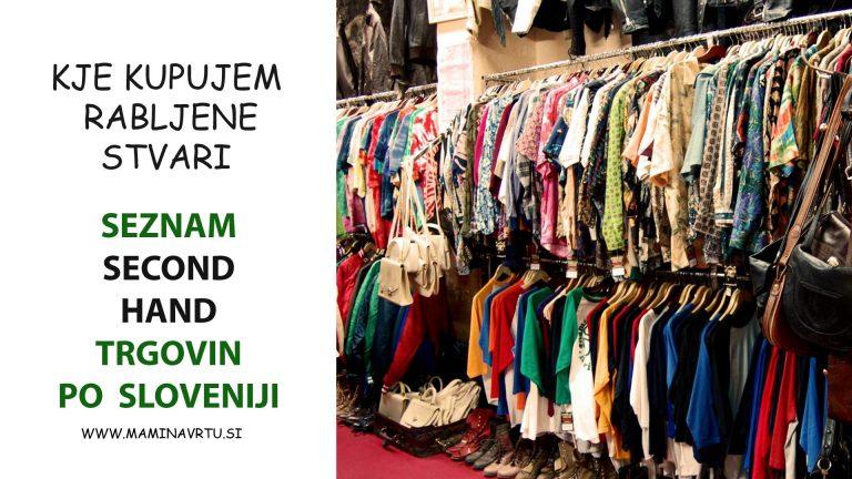 Kje kupujem rabljene stvari | Seznam second hand trgovin v Sloveniji